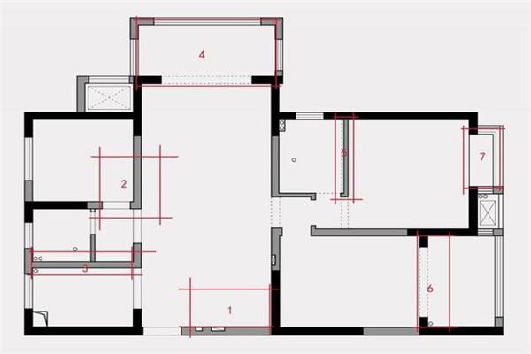 126平米三口之家设计案例图1