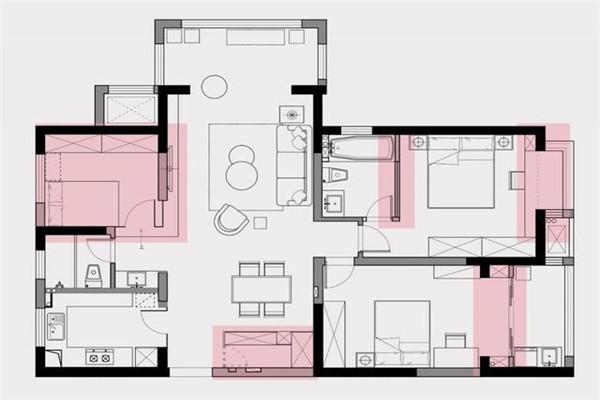 126平米三口之家设计案例图2