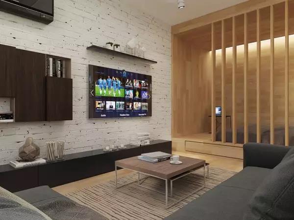 60㎡现代简约风格客厅装饰