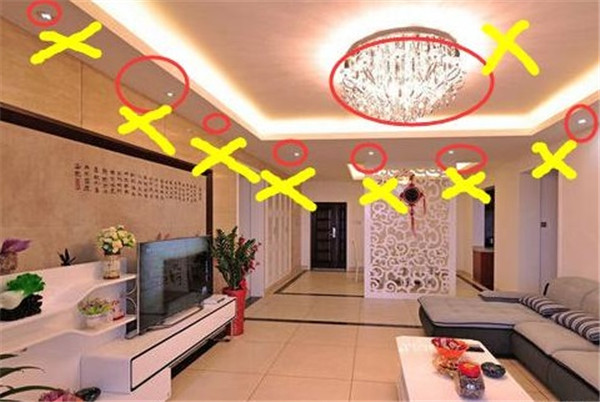 小户型装修灯具选购误区
