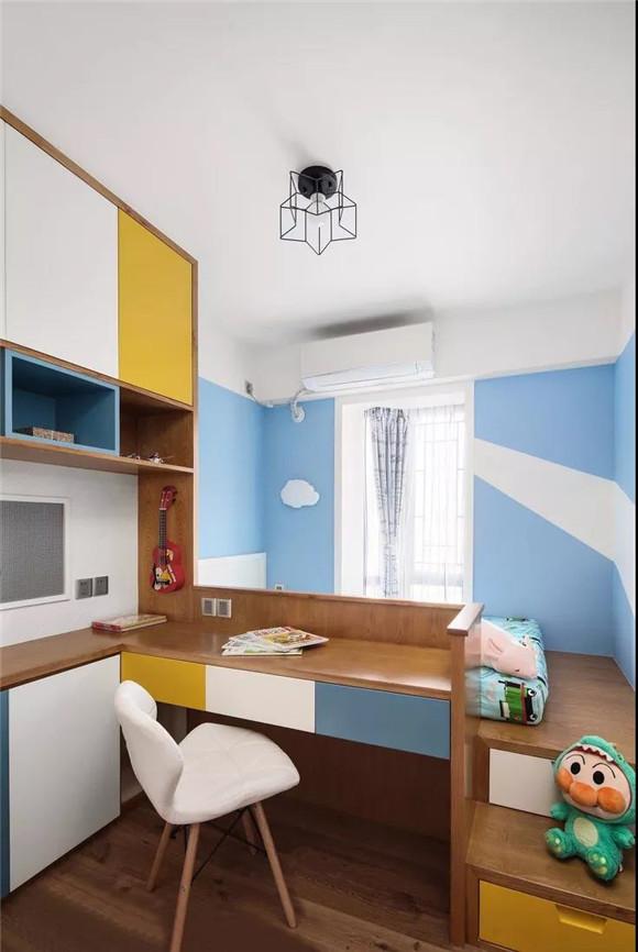 107㎡不规则房屋儿童房装修