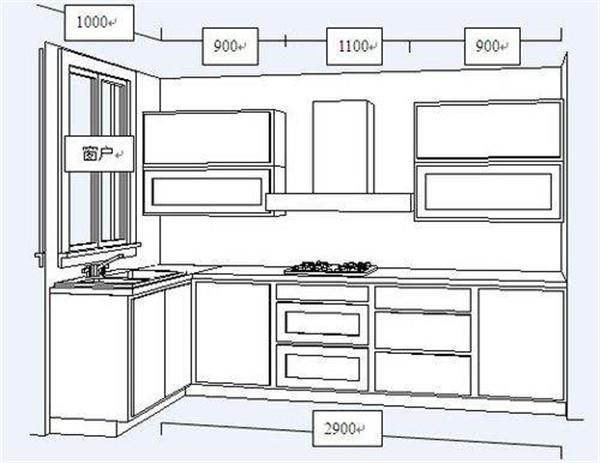 厨房装修要实用尺寸要知道