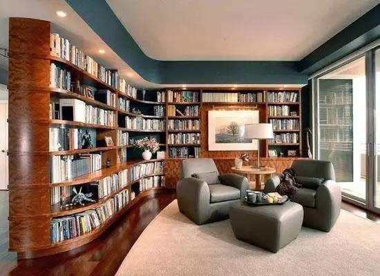个性书房设计效果图6