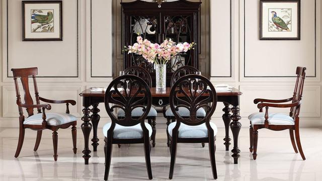 复古餐桌椅
