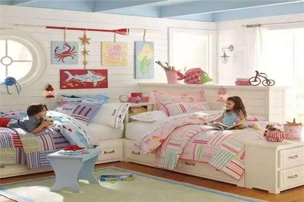 可隔开兄妹双人儿童房设计图9