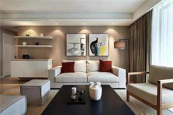108平米小三房客厅收纳装修