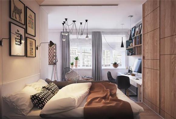 38㎡小户型单身公寓卧室装修