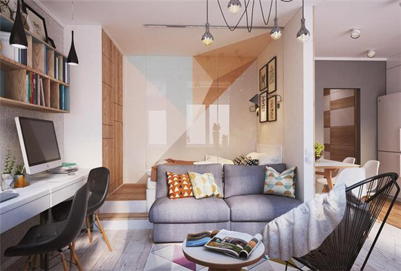 38㎡小户型单身公寓客厅装修