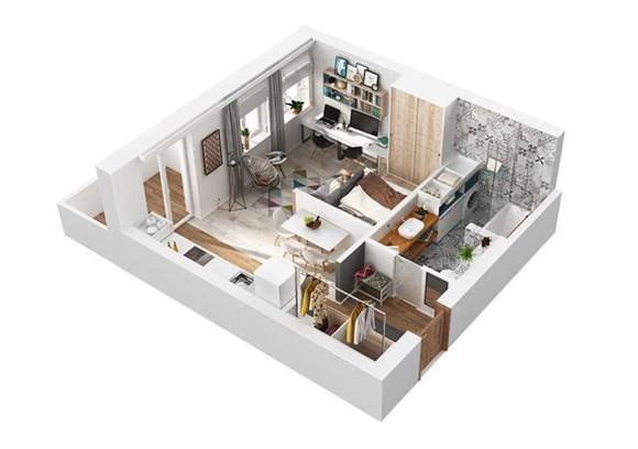 38㎡小户型单身公寓装修