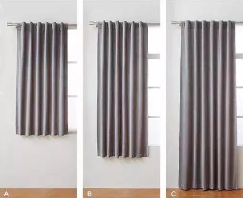 把窗帘挂高