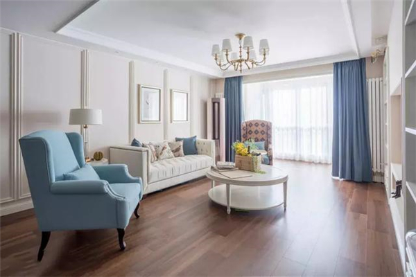 美式大平层客厅设计