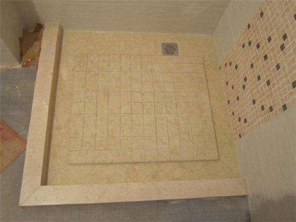 淋浴区做大理石拉槽