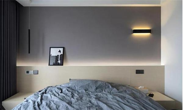 灯具点亮卧室
