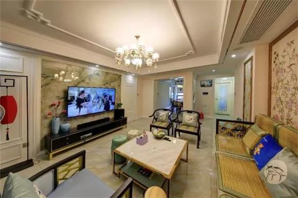 108平米新中式客厅装修