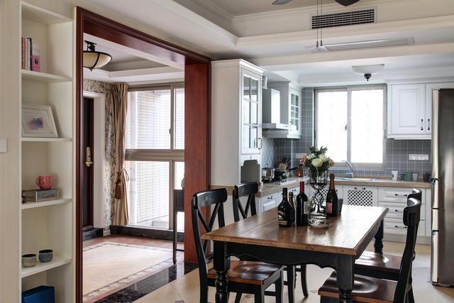 110平米美式风格三室两厅厨房装修