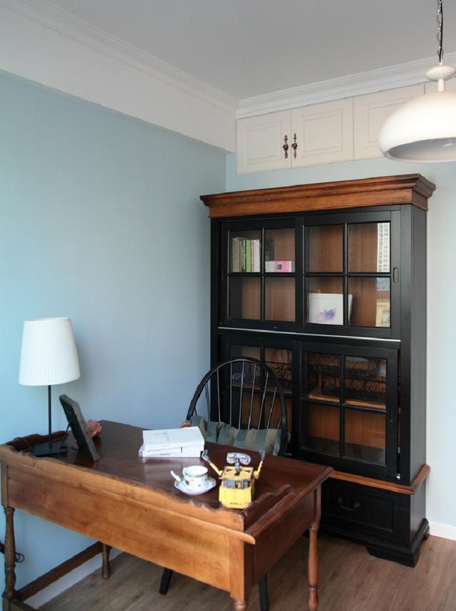 110平米美式风格三室两厅书房装修