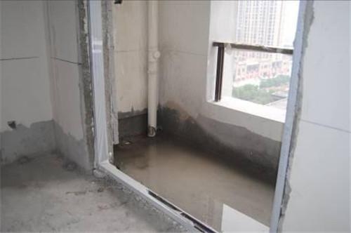 阳台窗户漏水