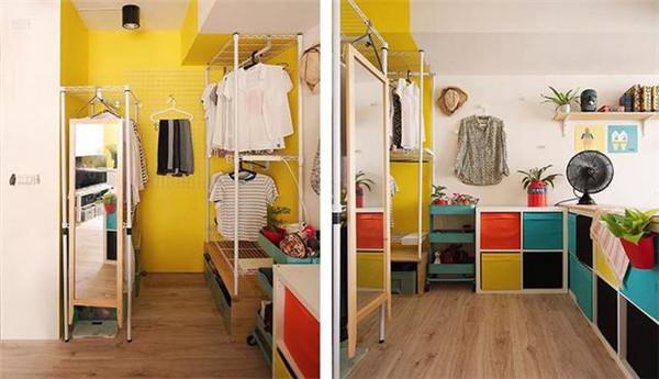 卧室太小怎么装衣柜