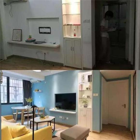 客厅改造对比图