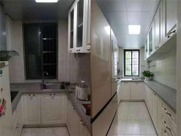 厨房改造对比图