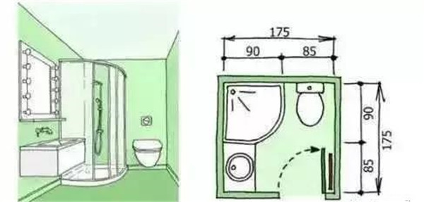 3平米卫生间装修方案