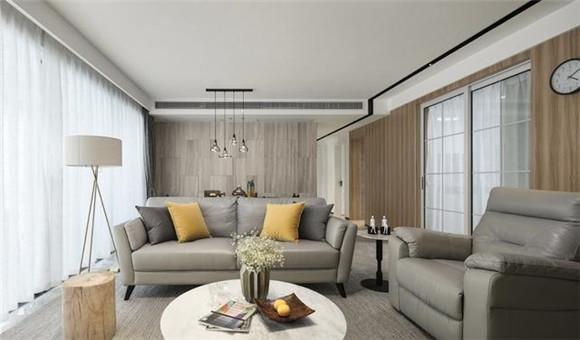 125平米现代简约客厅装修