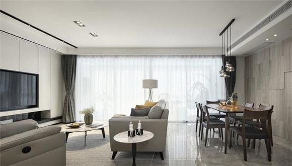 125平米现代简约客厅布局