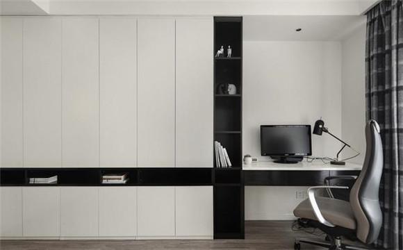 125平米现代简约书房装修
