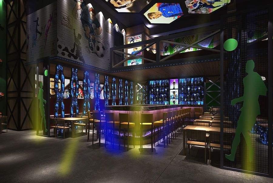 足球为主题设计酒吧的理念