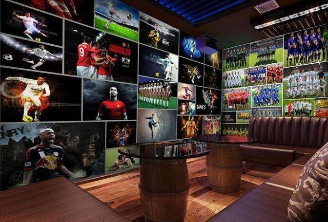 足球主题酒吧的装修设