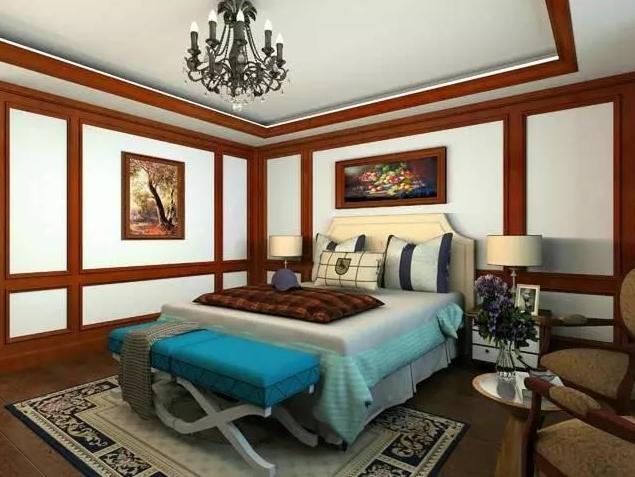 柳州美式乡村风格卧室装修