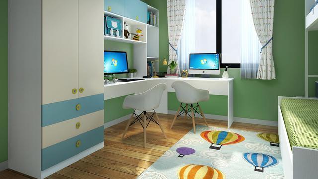 儿童房学习区