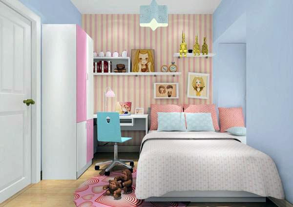 二孩儿童房设计图女孩 二孩儿童房装修效果图