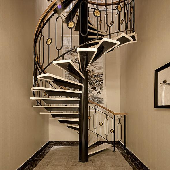 室内旋转楼梯效果图案例
