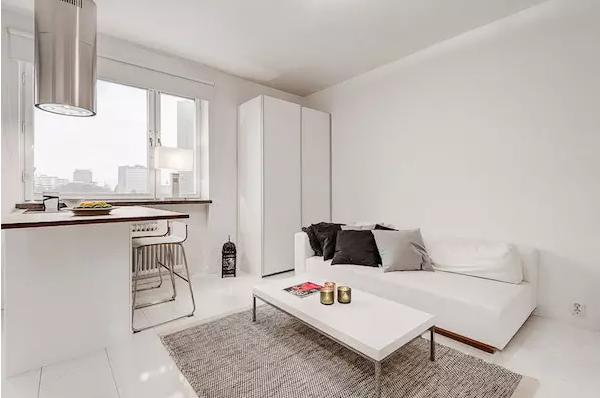 25平米单身公寓效果图——双开门大衣柜
