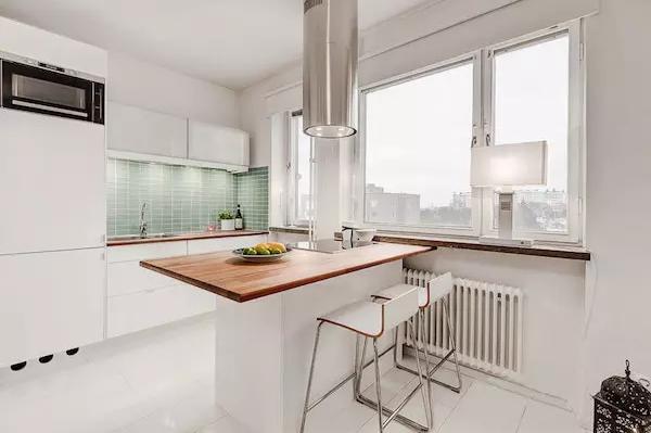 25平米单身公寓效果图——大面积的窗户