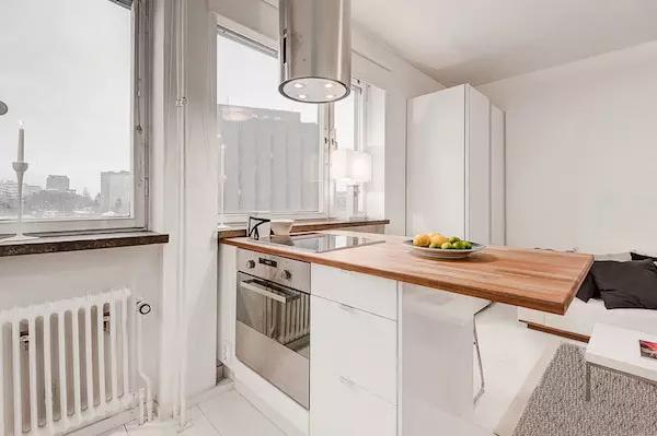 25平米单身公寓效果图——餐桌另一侧