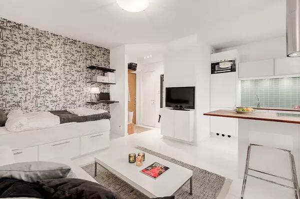 25平米单身公寓效果图——电视机柜子