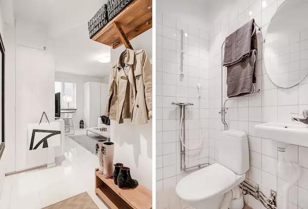 25平米单身公寓效果图——门厅与卫生间设计