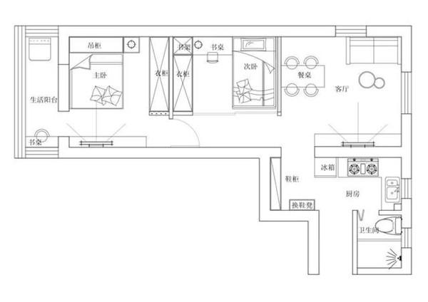 兰州一室一厅改造装修设计图
