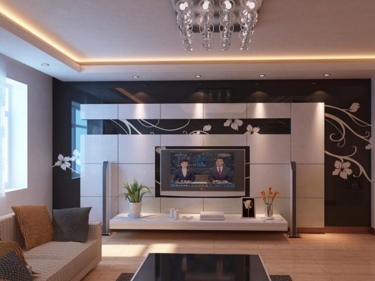 电视墙造型2018流行款_电视墙造型材料_新中式电视墙
