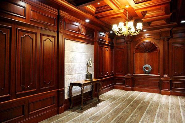 原木护墙板效果图片案例