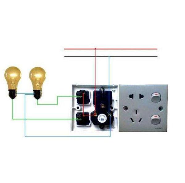 电灯开关接线图解_单控开关接线图解_双控开关接线-齐