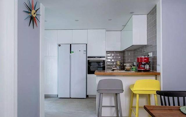 128㎡北欧混搭风厨房装修效果图