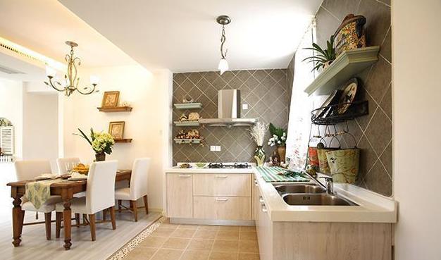 沾化田园风格装修厨房