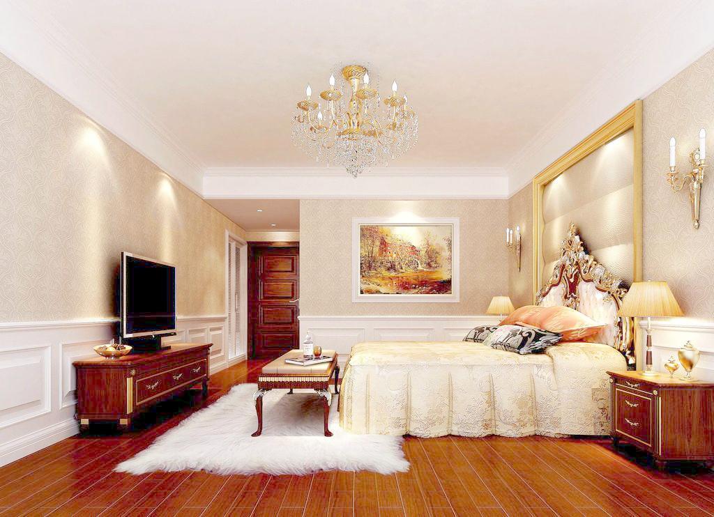 卧室暖色系装修效果