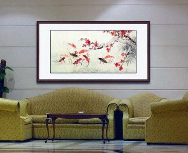 家庭客厅适合挂什么画