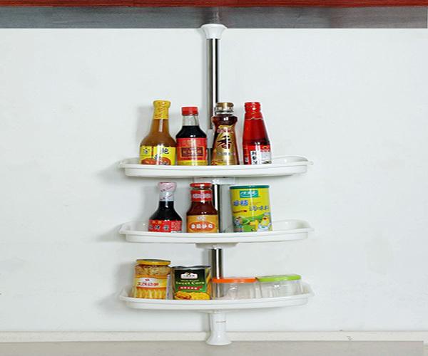 厨房收纳架挂式好还是摆台面好