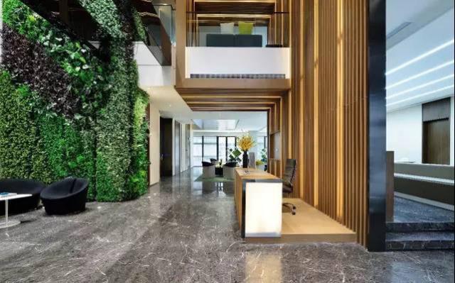 福州装修公司写字楼办公室绿化设计效果