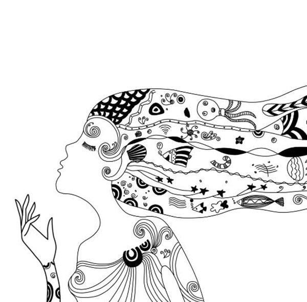 简单创意黑白装饰画作品